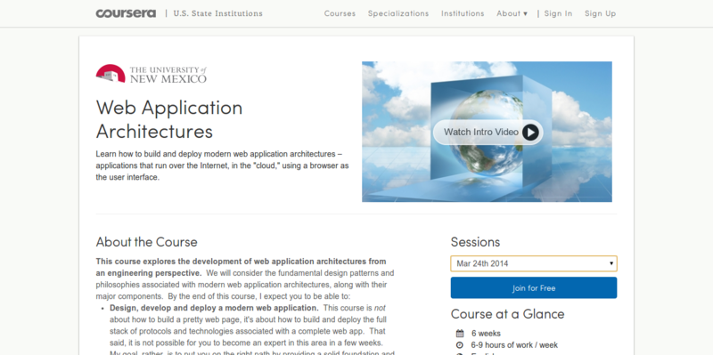 Web Application Architectures Coursera