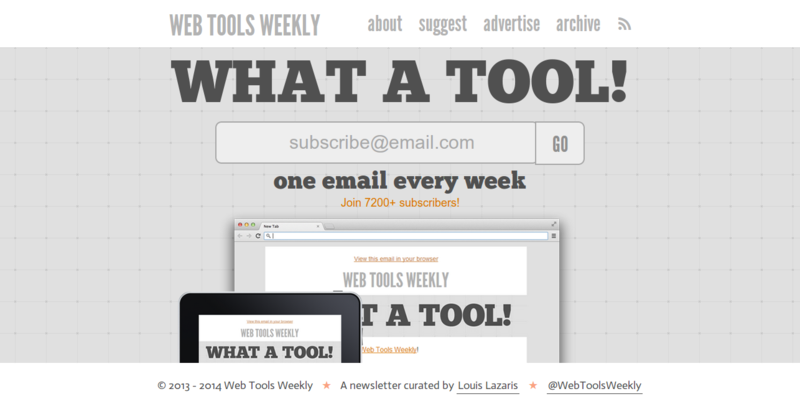 Web Tools Weekly   A weekly newsletter for front end developers
