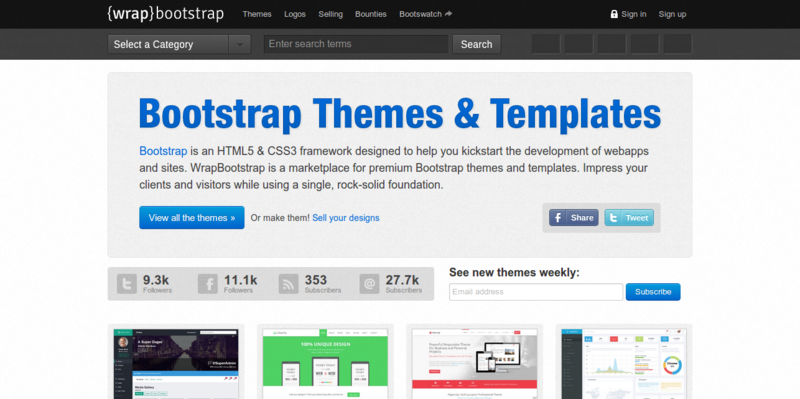 WrapBootstrap Bootstrap Themes Templates