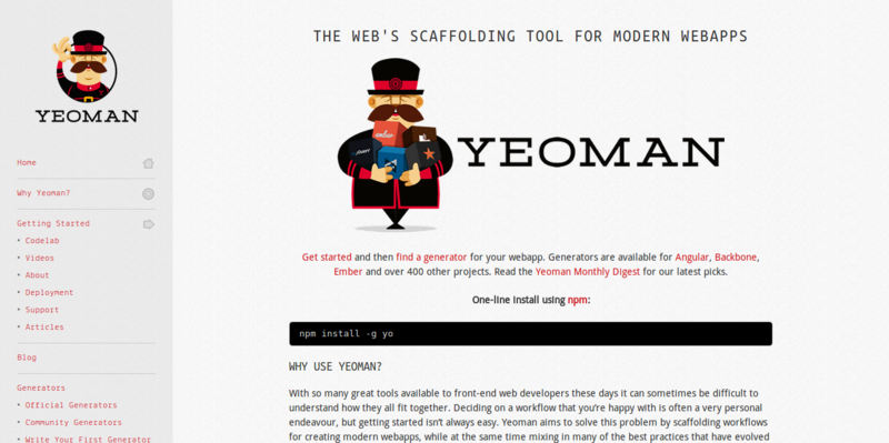 Yeoman: Client-side Stack for Web Application Development
