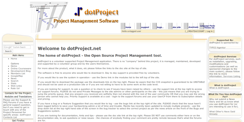 dotproject Open Source Software Open Source Project and Task Management Software