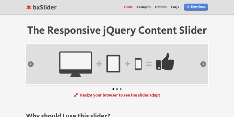 jQuery Content Slider Responsive jQuery Slider bxSlider