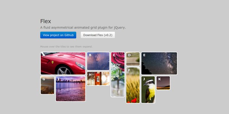 jQuery plugin Flex Demo