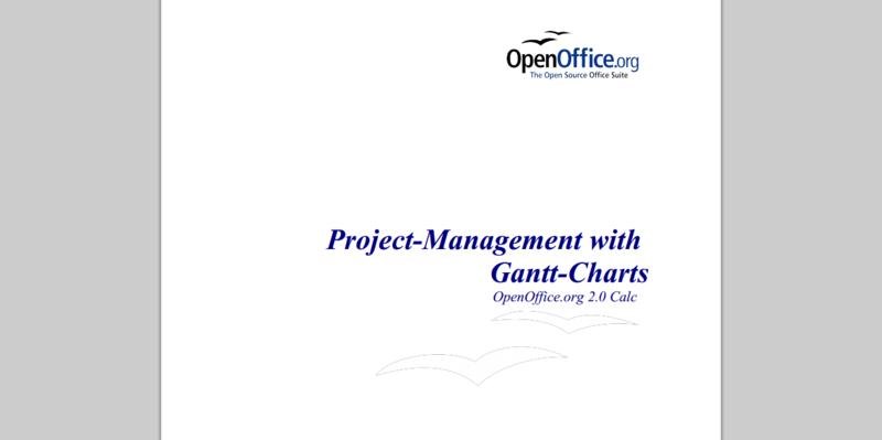openoffice gantt charts
