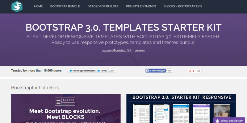 Bootstrap templates starter KIT bootstrap responsive templates themesBootstraptor.com