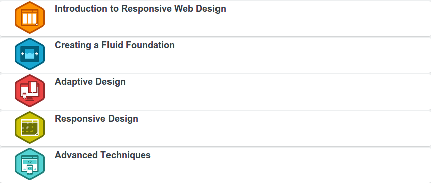 Build a Responsive Website Project categories