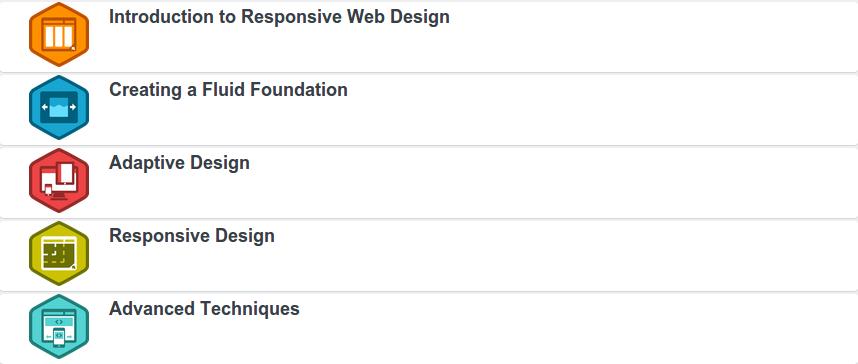 Build a Responsive Website Project categories