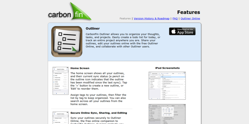 CarbonFin   Outliner for iPhone  iPod Touch  and iPad