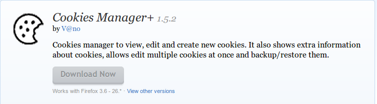 Cookies Manager     Add ons for Firefox