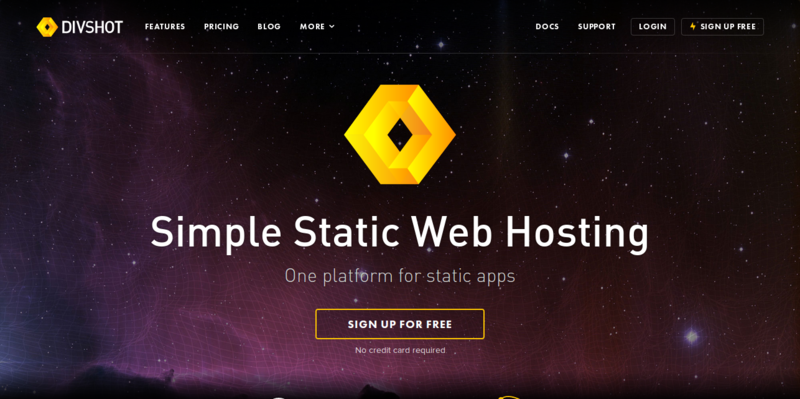 Divshot Simple Static Web Hosting and Bootstrap Builder