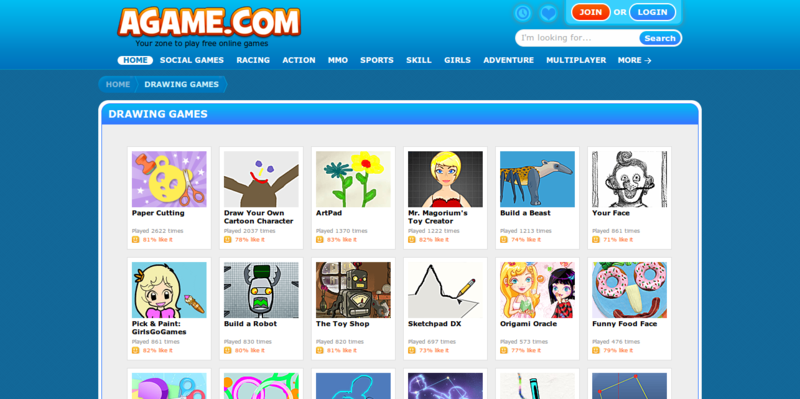 Drawing Games Free Online Games At Agame Com Web Development Technology Resources