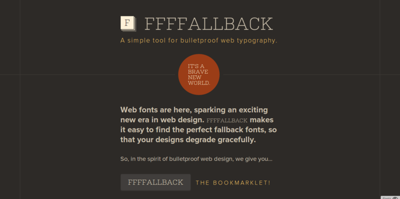 FFFFALLBACK   A simple tool for bulletproof web typography.