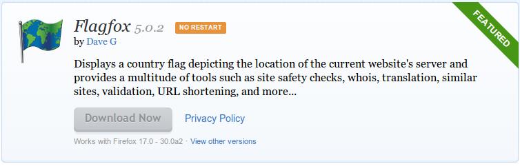 Flagfox    Add ons for Firefox