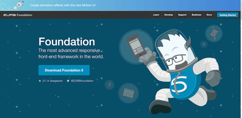 Foundation The Most Advanced Responsive Front end Framework from ZURB