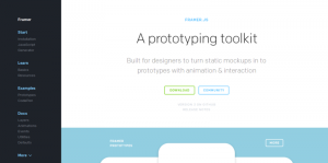 Framer – A prototyping toolkit
