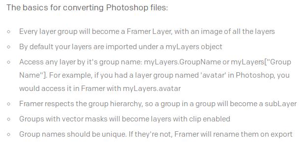 Framer.js Photoshop
