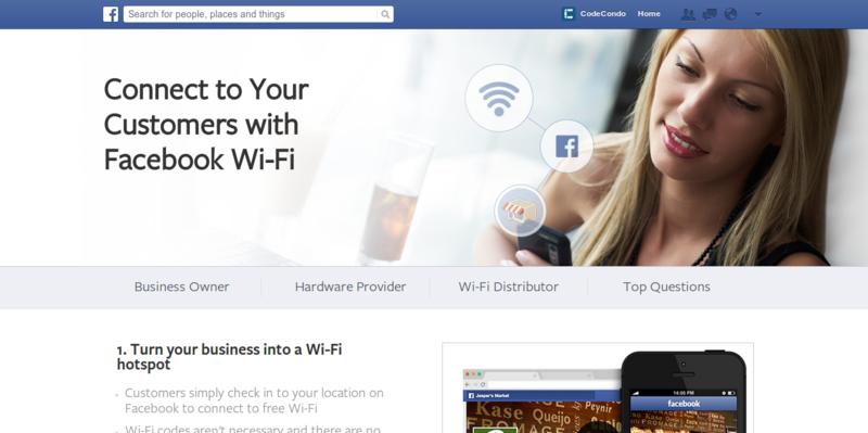 Get Facebook Wi Fi for Your Business