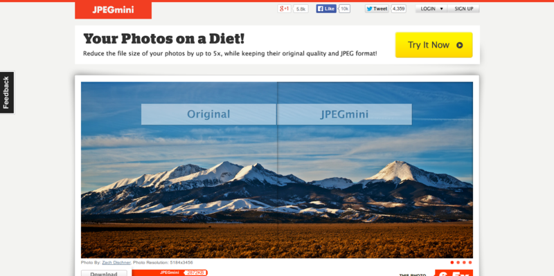 JPEGmini   Your Photos on a Diet
