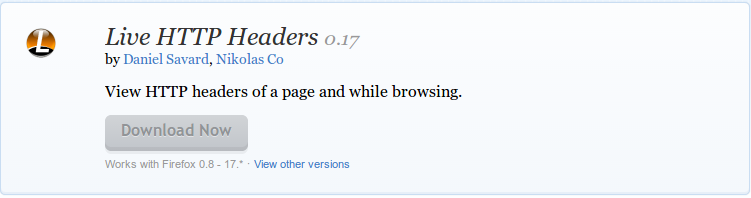 Live HTTP Headers    Add ons for Firefox