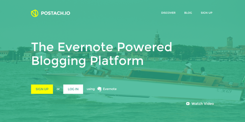 Postach.io   The Evernote Blogging Platform
