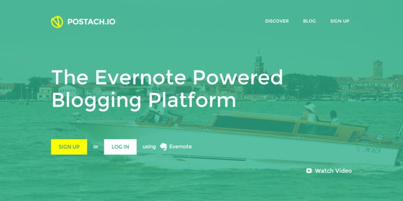 Postach.io   The Evernote Blogging Platform