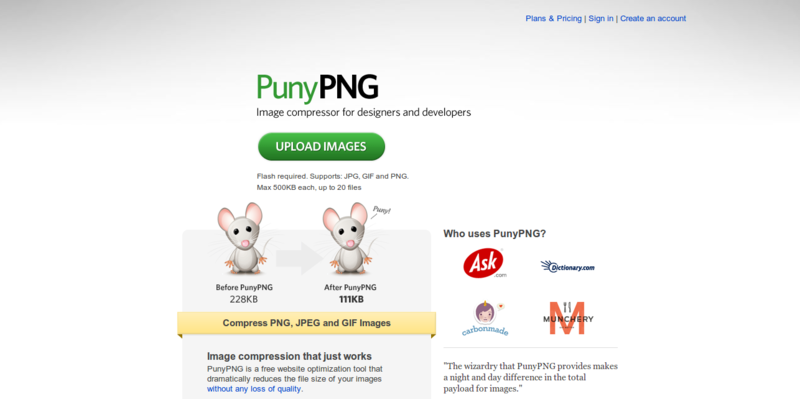 PunyPNG   PNG Compression and Image Optimization