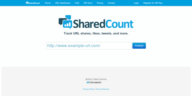 SharedCount  Social URL Analytics
