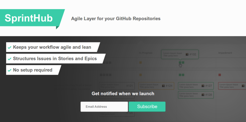 SprintHub – Agile Layer for your GitHub Repositories