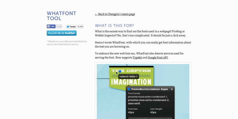 WhatFont Tool   The easiest way to inspect fonts in webpages « Chengyin Liu