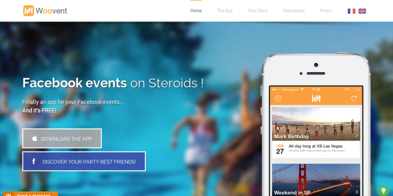 Woovent   Your Facebook events on steroids