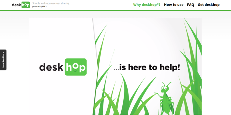 deskhop  simple and secure screen sharing with friends on Facebook