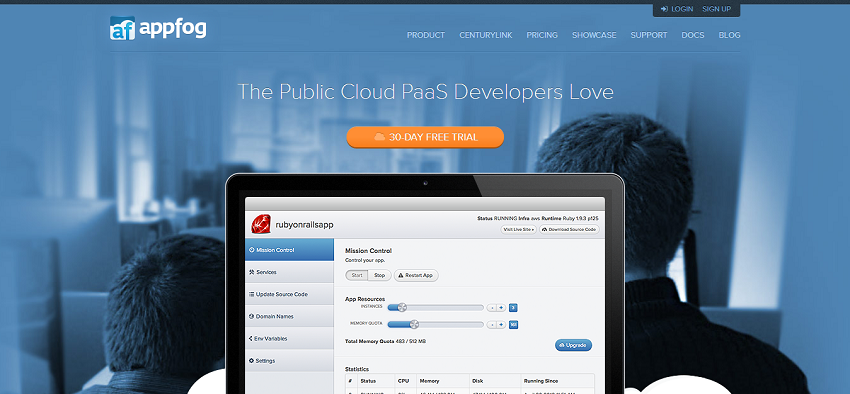 AppFog   Platform as a Service for public clouds