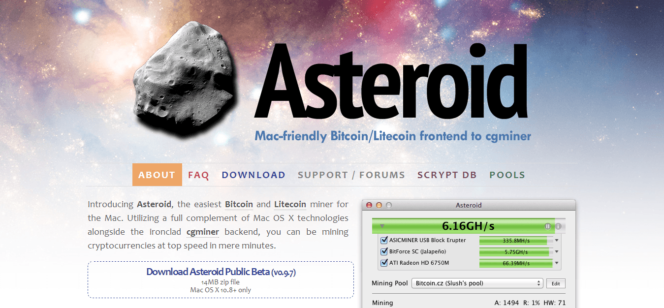 How to use asteroid bitcoin miner bitcoin services inc earnings this is a setting that will allow your miner to use certain cores of your cputer that you will have to enter a 3 digit code which can be found on your ccuart Gallery