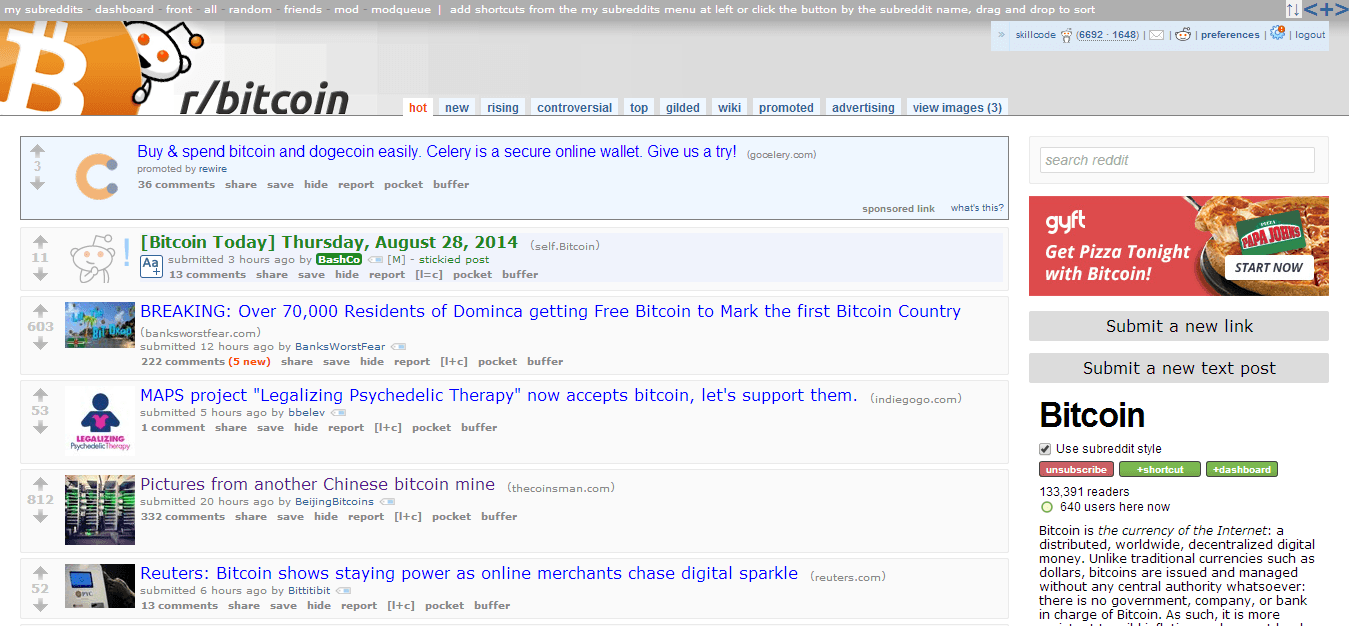 Bitcoin on Reddit
