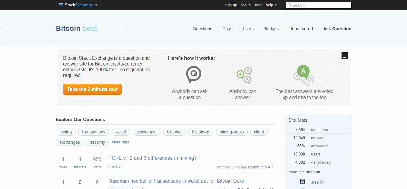 Bitcoin on Stack Exchange