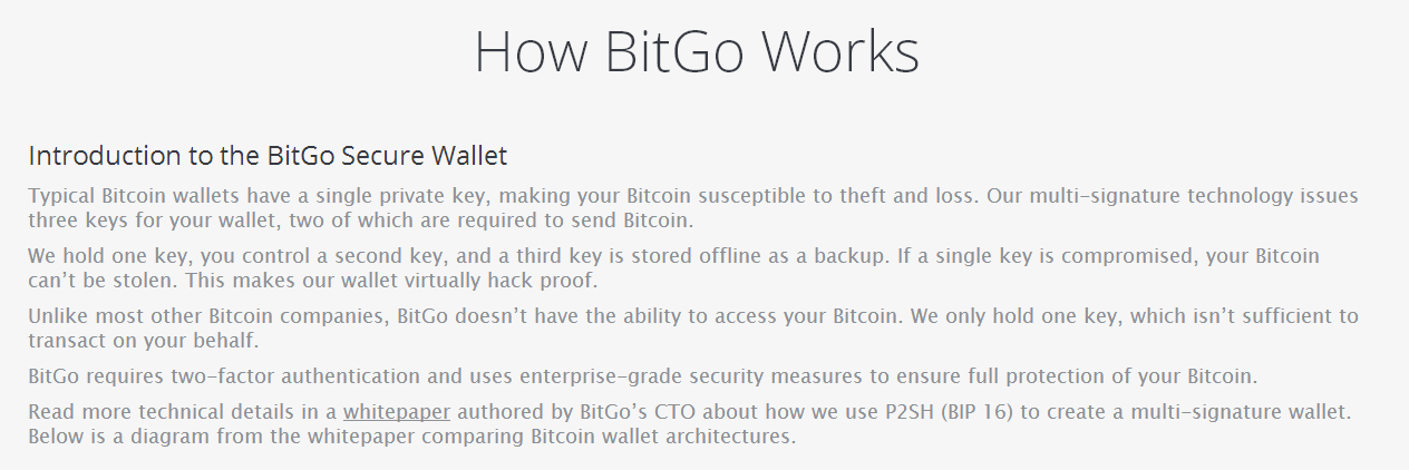 How BitGo Works