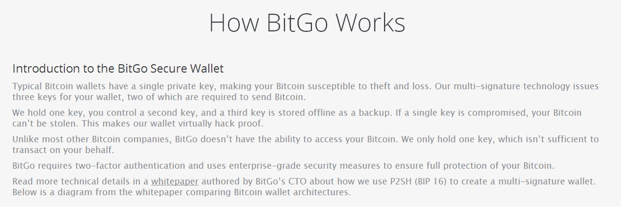 How BitGo Works