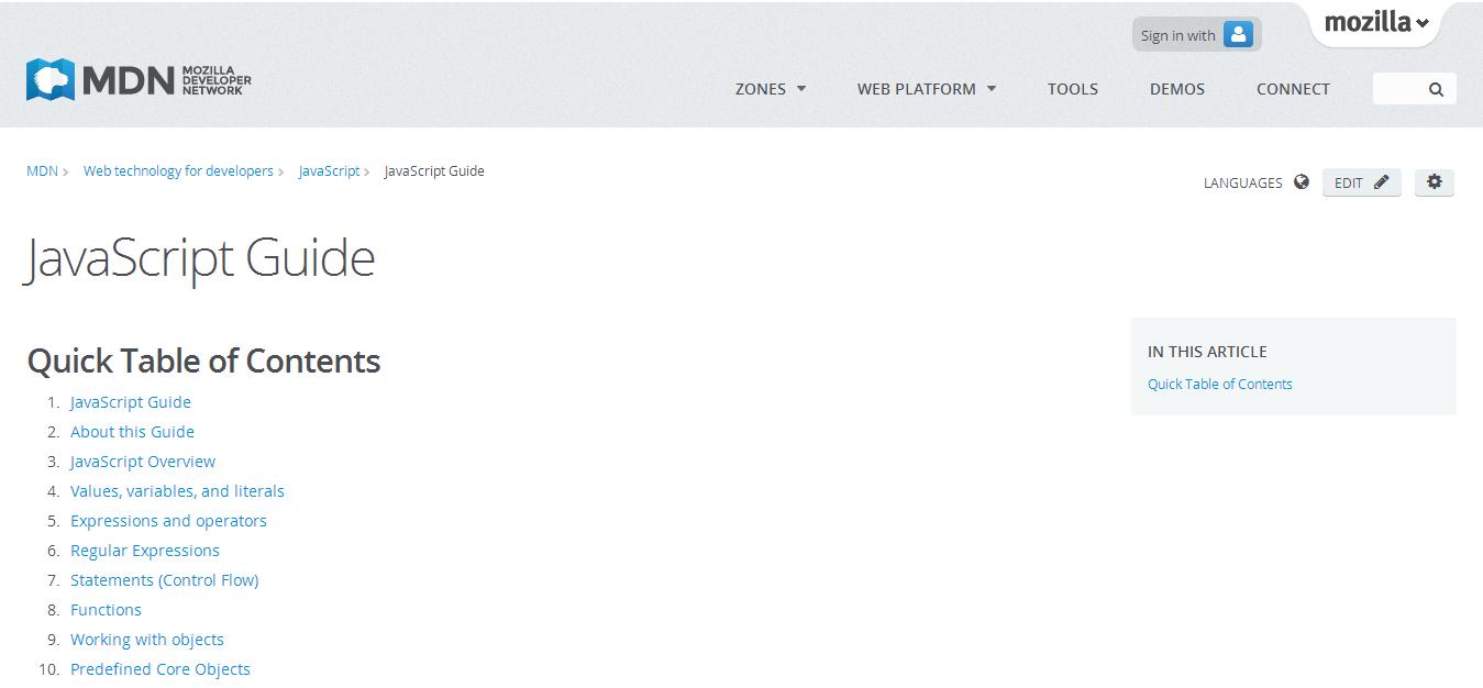 JavaScript Guide JavaScript MDN   Web Development & Technology ...