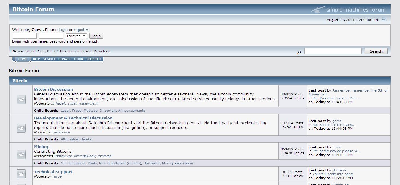 Official Bitcoin Forum