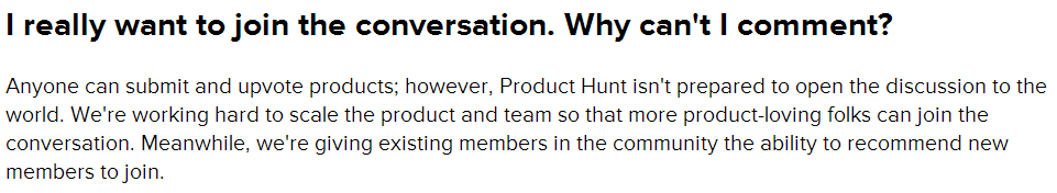 Product Hunt - Leaving a Comment