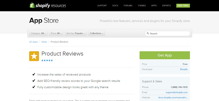 Product Reviews by Shopify