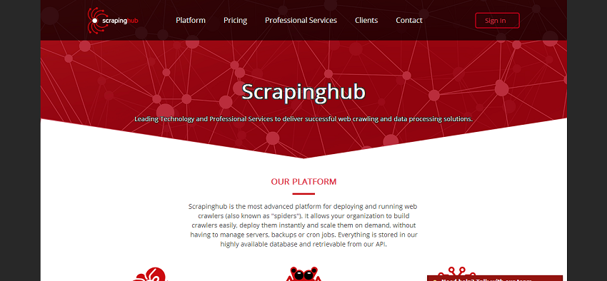 Scrapinghub Home