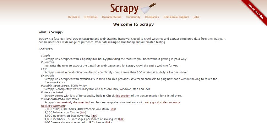 Scrapy   An open source web scraping framework for Python