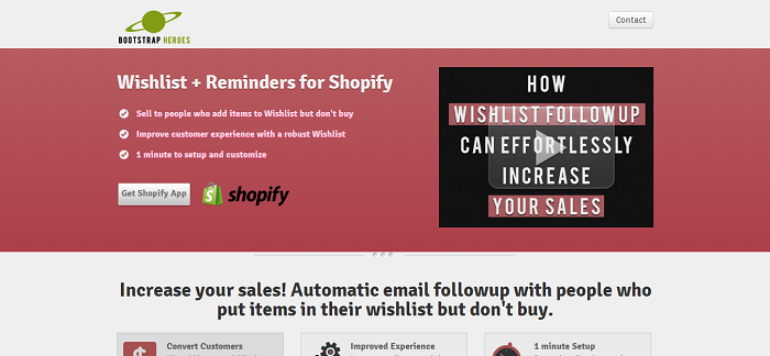 Wishlist Reminders by Bootstrap Heroes