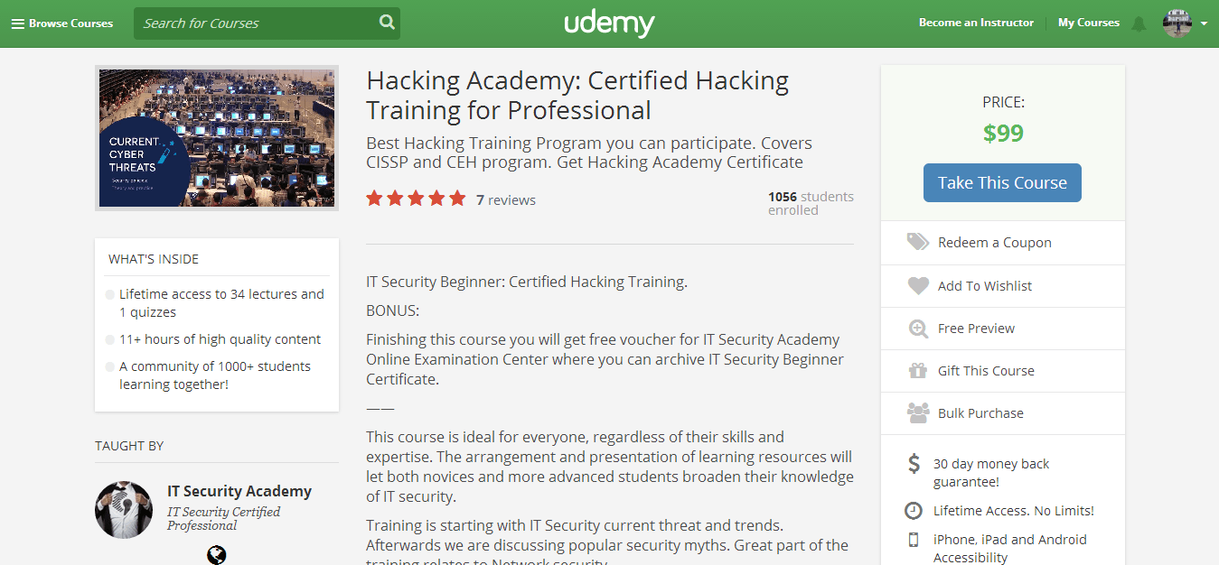 Certified Hacking Training for Professionals