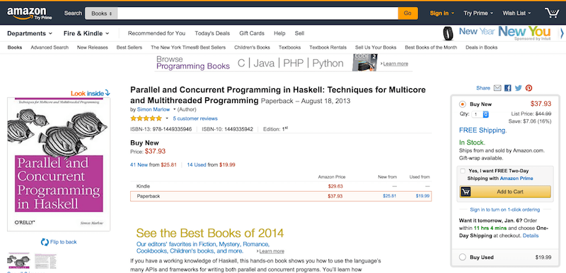 Parallel and Concurrent Programming in Haskell  Techniques for Multicore and Multithreaded Programming  Simon Marlow  9781449335946  Amazon.com  Books