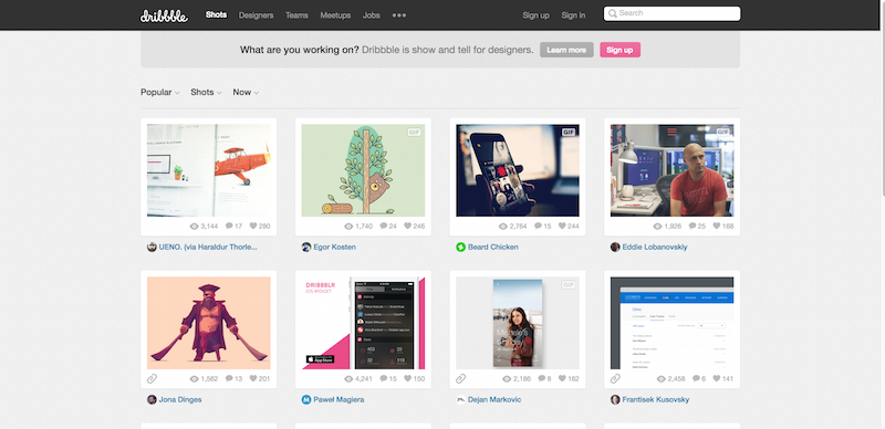 Dribbble   Show and tell for designers