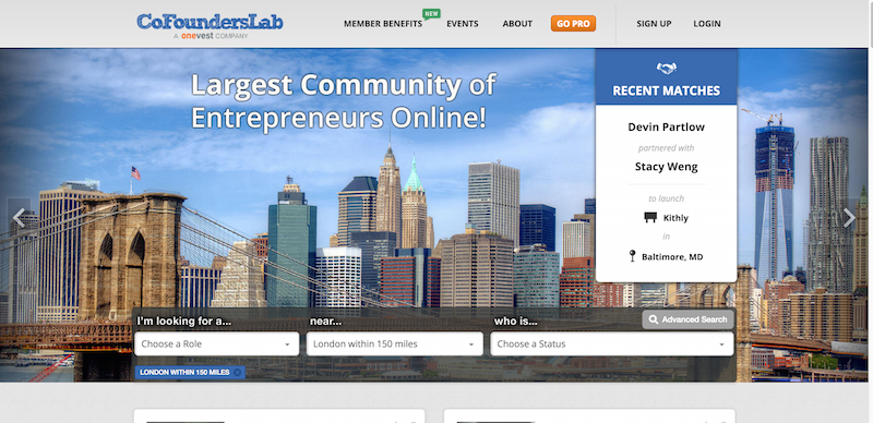 Find A Co founder in Any City  Any Industry   CoFoundersLab