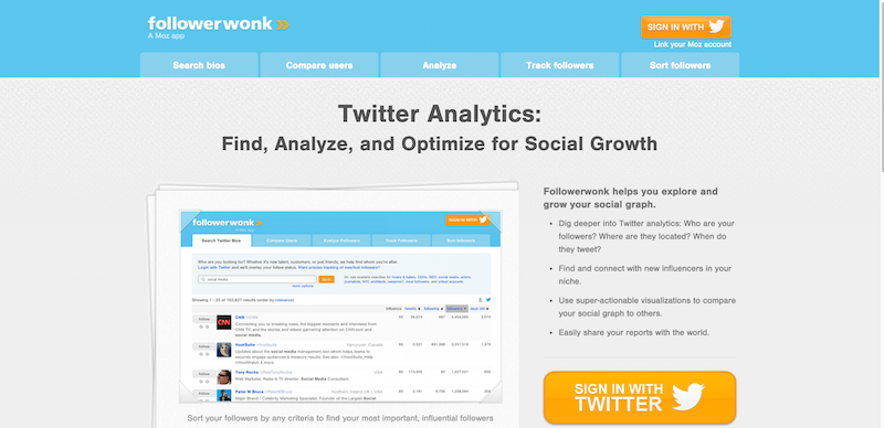 Followerwonk  Twitter analytics  follower segmentation  social graph tracking    more