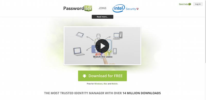 Free Password Manager   PasswordBox